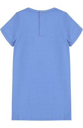 Женский платье из хлопка и вискозы с принтом MARC JACOBS (THE) голубого цвета, арт. W02103 | Фото 2