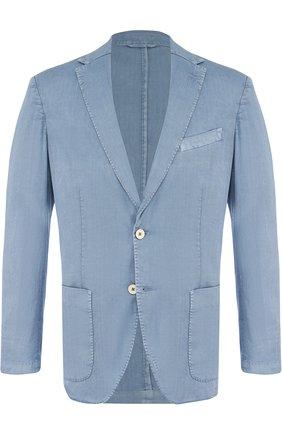 Однобортный пиджак из смеси льна и хлопка | Фото №1