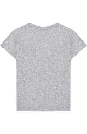 Хлопковая футболка с декором | Фото №2