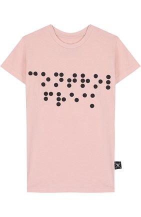Хлопковая футболка с декором | Фото №1