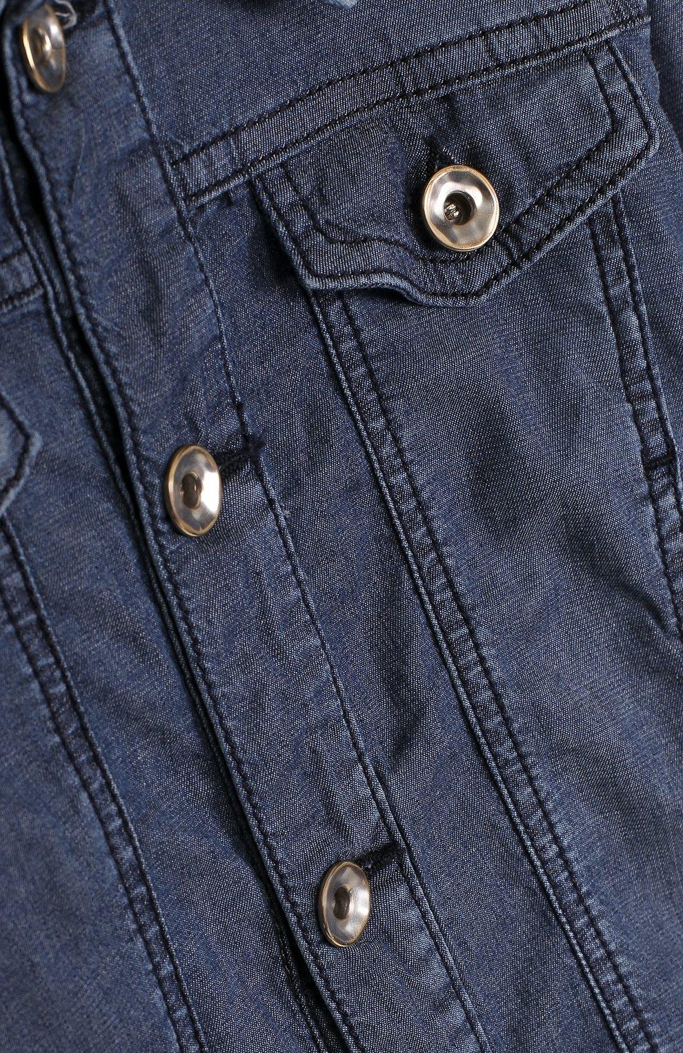 Детская джинсовая куртка с нашивкой STELLA JEAN KIDS синего цвета, арт. J/JF/SJ01/1037/8A-14A | Фото 3
