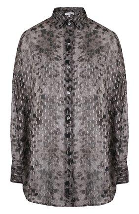 Блуза свободного кроя из вискозы | Фото №1