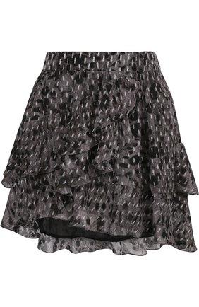 Мини-юбка из вискозы с оборками | Фото №1
