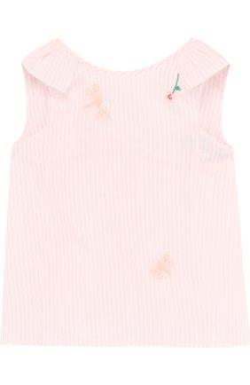 Детский хлопковая блуза с вышивкой TARTINE ET CHOCOLAT розового цвета, арт. TL12011/1M-18M | Фото 1