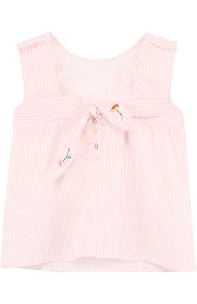 Детский хлопковая блуза с вышивкой TARTINE ET CHOCOLAT розового цвета, арт. TL12011/1M-18M | Фото 2