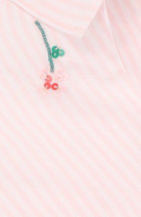Детский хлопковая блуза с вышивкой TARTINE ET CHOCOLAT розового цвета, арт. TL12011/1M-18M | Фото 3