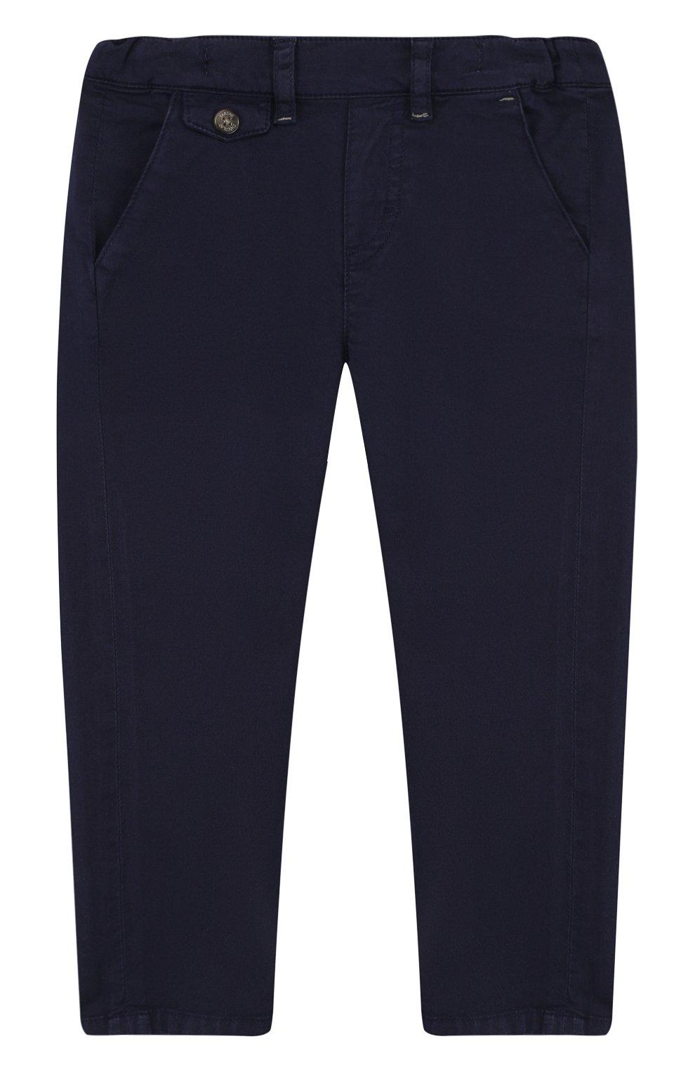Детские хлопковые брюки прямого кроя TARTINE ET CHOCOLAT темно-синего цвета, арт. TL22091/2A-3A | Фото 1