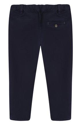 Детские хлопковые брюки прямого кроя TARTINE ET CHOCOLAT темно-синего цвета, арт. TL22091/2A-3A | Фото 2