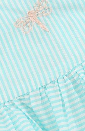 Женская хлопковое платье с вышивкой и оборкой TARTINE ET CHOCOLAT зеленого цвета, арт. TL30021/1M-18M | Фото 3