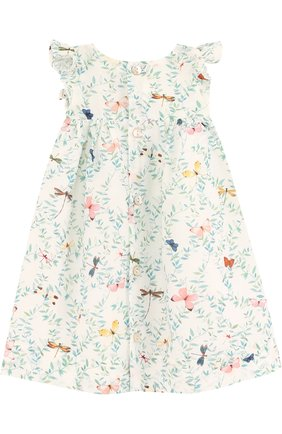 Платье из смеси хлопка и шелка с принтом | Фото №2