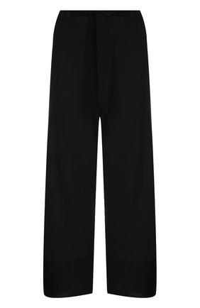 Укороченные хлопковые брюки с карманами Deha хаки | Фото №1