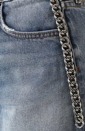Женские джинсовые мини-шорты с потертостями GRLFRND голубого цвета, арт. GF4011850658 | Фото 5