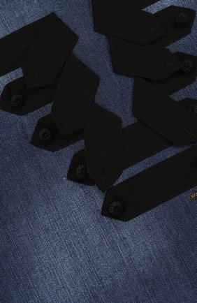Детское джинсовый мини-сарафан прямого кроя с контрастной отделкой DSQUARED2 темно-синего цвета, арт. DQ02RA-D00R4 | Фото 3