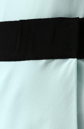 Шелковая мини-юбка с контрастным поясом | Фото №5