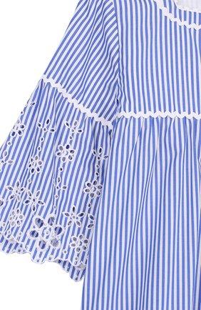 Хлопковое мини-платье с кружевной отделкой   Фото №3