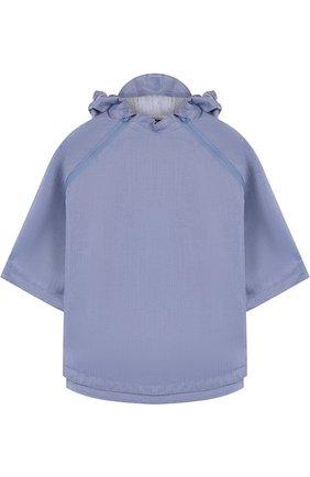 Детское пончо с капюшоном GOSOAKY голубого цвета, арт. 181.101.221/C0ATED DENIM | Фото 1