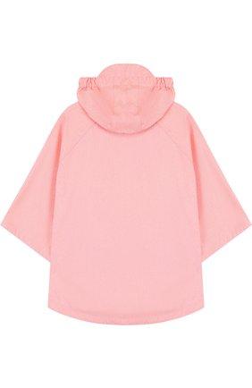 Детское пончо с капюшоном GOSOAKY розового цвета, арт. 181.101.221/C0ATED W0VEN MELANGE | Фото 2
