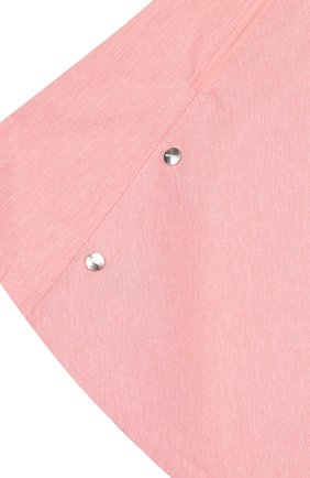Детское пончо с капюшоном GOSOAKY розового цвета, арт. 181.101.221/C0ATED W0VEN MELANGE | Фото 3