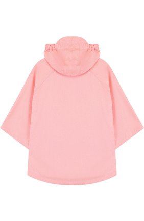Пончо с капюшоном Gosoaky розового цвета | Фото №1