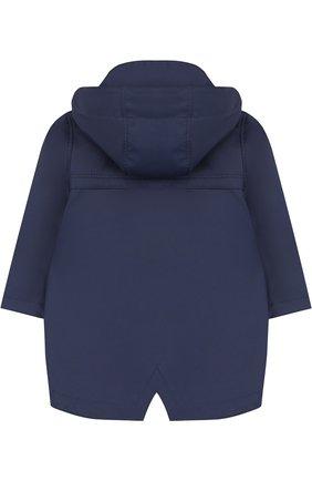 Дождевик с капюшоном Gosoaky синего цвета | Фото №1