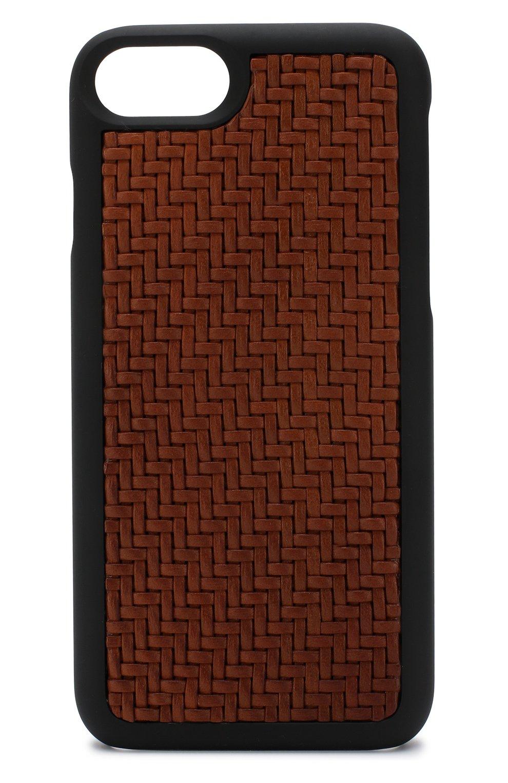 Мужской кожаный чехол для iphone 7/8 ERMENEGILDO ZEGNA темно-бежевого цвета, арт. E1249P-PSM | Фото 1