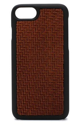 Кожаный чехол для iPhone 7/8 Ermenegildo Zegna  | Фото №1