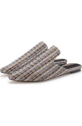 Текстильные сабо с вышивкой | Фото №1