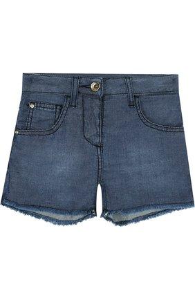 Джинсовые шорты с бахромой | Фото №1