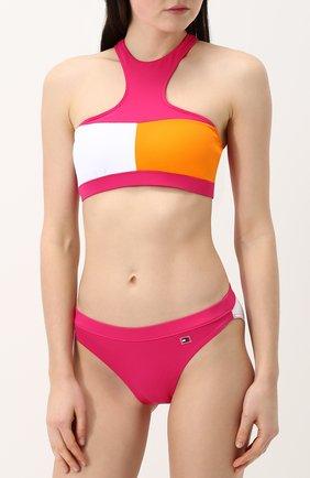 Плавки-бикини с логотипом бренда Tommy Hilfiger розовый | Фото №1
