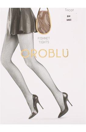 Женские капроновые колготки в сетку OROBLU бежевого цвета, арт. V0BC01033 | Фото 1