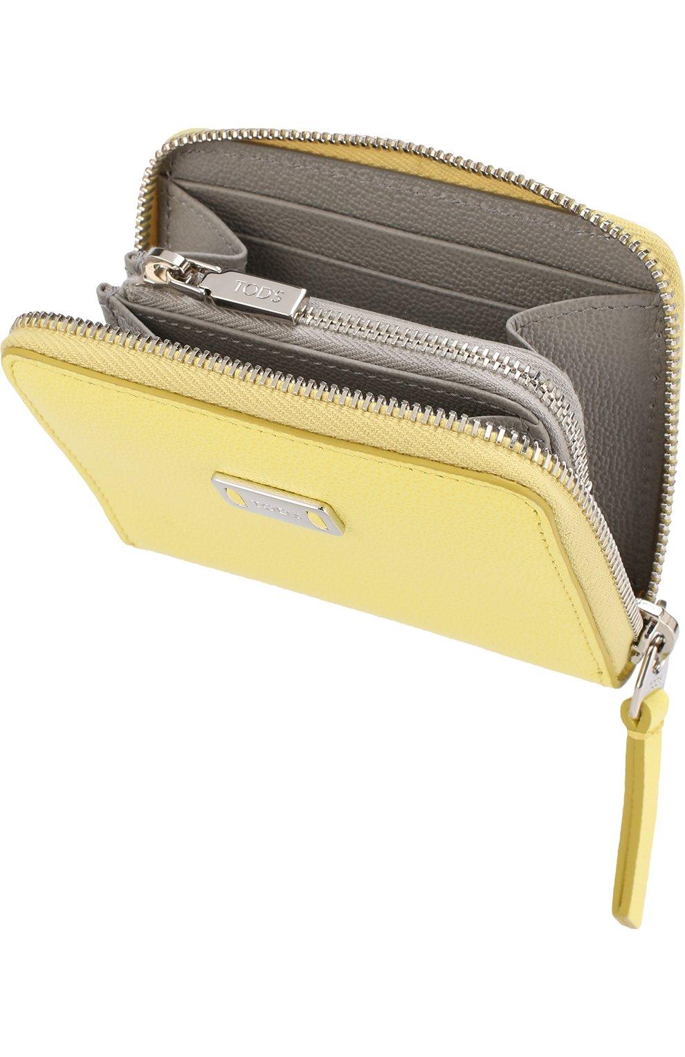Кожаный кошелек на молнии   Фото №3