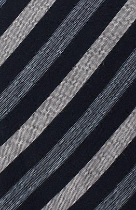 Мужской галстук из смеси льна и шелка BRIONI темно-синего цвета, арт. 063I00/P7461 | Фото 3