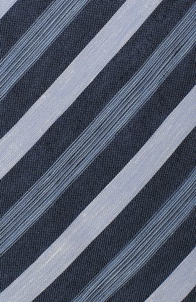 Мужской галстук из смеси льна и шелка BRIONI голубого цвета, арт. 063I00/P7461   Фото 3