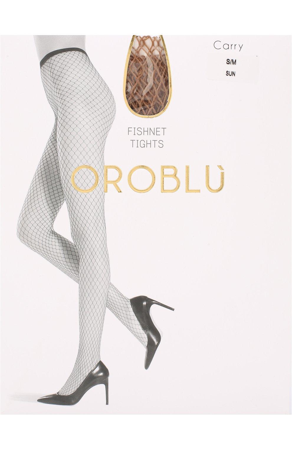Женские капроновые колготки в сетку OROBLU бежевого цвета, арт. V0BC64656 | Фото 1
