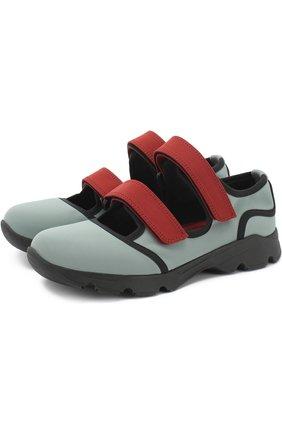 Текстильные кроссовки с застежками велькро | Фото №1