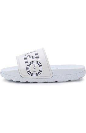 Детские шлепанцы с логотипом бренда KENZO белого цвета, арт. KL81558 | Фото 2