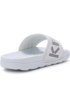 Детские шлепанцы с логотипом бренда KENZO белого цвета, арт. KL81558 | Фото 3