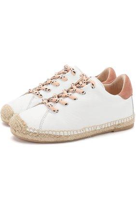 Кожаные эспадрильи на шнуровке | Фото №1