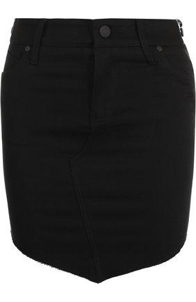 Однотонная мини-юбка с карманами | Фото №1