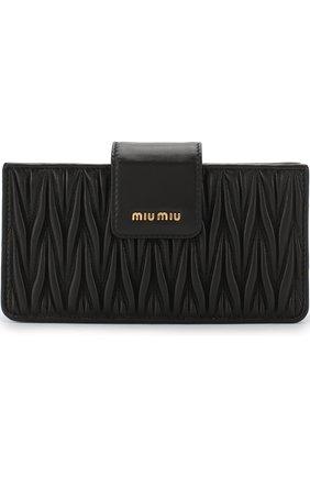 Клатч из кожи Miu Miu черного цвета | Фото №1