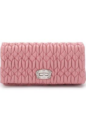 Женский клатч из кожи MIU MIU розового цвета, арт. 5BD417-FVJ-F0028-OOO | Фото 1