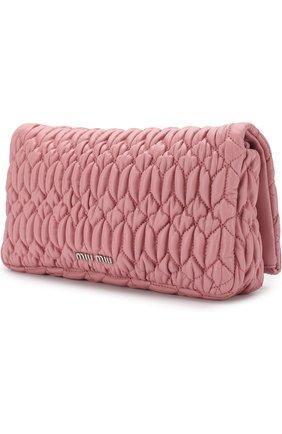 Женский клатч из кожи MIU MIU розового цвета, арт. 5BD417-FVJ-F0028-OOO | Фото 2
