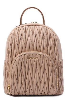 Женский рюкзак MIU MIU бежевого цвета, арт. 5BZ022-N88-F0770-OOO | Фото 1