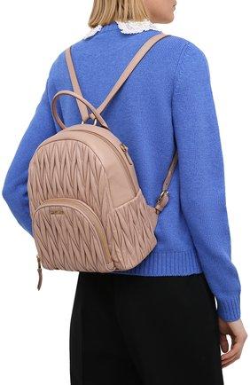 Женский рюкзак MIU MIU бежевого цвета, арт. 5BZ022-N88-F0770-OOO | Фото 2