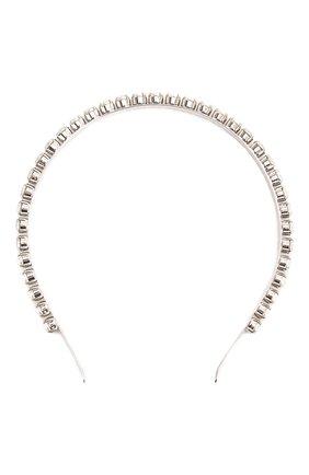 Женский ободок с отделкой из кристаллов MIU MIU серебряного цвета, арт. 5JH004-2ARA-F0QCD | Фото 1