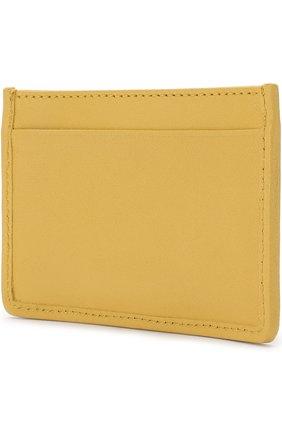 Кожаный футляр для кредитных карт Miu Miu желтого цвета | Фото №1