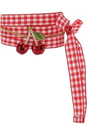 Текстильный браслет с декоративной отделкой | Фото №1
