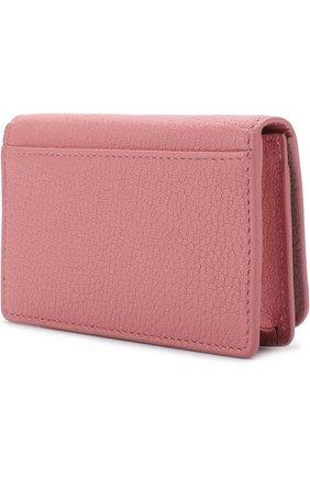 Женский кожаный футляр для кредитных карт MIU MIU розового цвета, арт. 5MC011-2BJI-F0387 | Фото 2