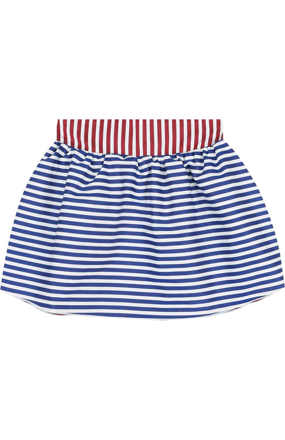 Хлопковая мини-юбка свободного кроя | Фото №1