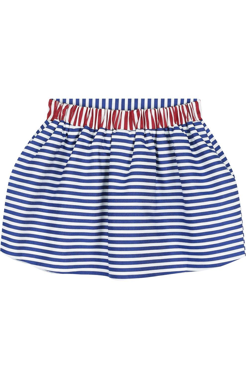 Хлопковая мини-юбка свободного кроя | Фото №2